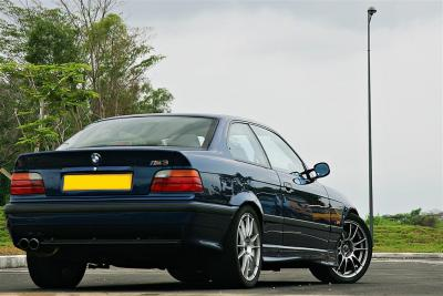 Lowered ride height compliments of the fully adjustable Bilstein PSS10 suspension