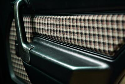 plaid half-leather interior is factory standard