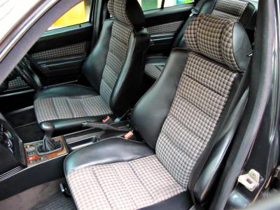 plaid half-leather interior is factory standard; seats are Recaro OE
