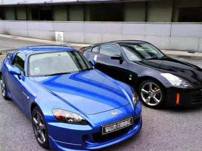 with the Modulo hard-top on, the S2000 was a convincing rival to the Z-car of that era, the 350Z